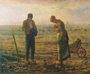 """Photo Credit: From Wikipedia, Jean-Francois Millet's """"The Angelus"""""""